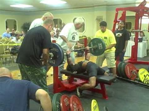 ronnie coleman bench press record bench press world record 56kg eric head youtube