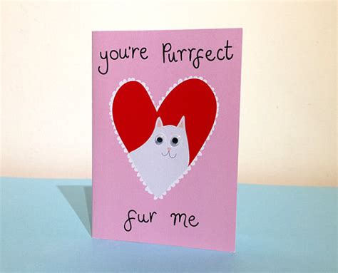 cat valentines card cat valentines card i like cats cat puns by