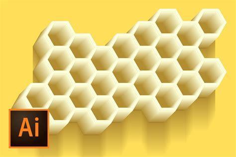 pattern hive illustrator honeycomb vector illustration illustrator tutorial