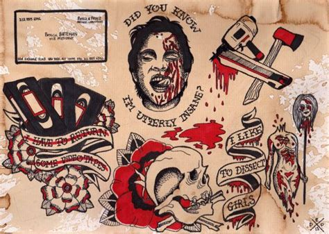 american psycho tattoo 17 best ideas about psycho on haunted