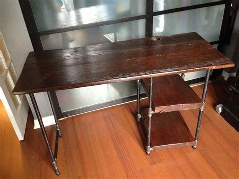 reclaimed barn wood and pipe desk home
