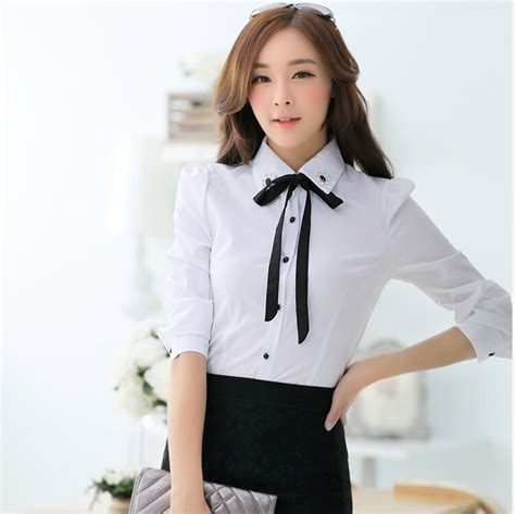 Promo Blouse Kemeja Kerja Wania Zaitun Shirt camisa blusas femininas 2015 office work shirt blouses polo blouse white