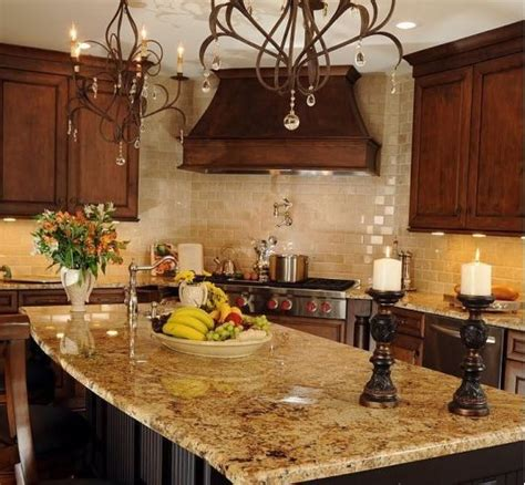Beautiful Granite Kitchen Countertops Ideas Tuscan Kitchen The Granite Like The Colors And The Backsplash Look At That Counter Top