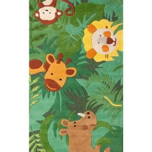 nuloom king of the jungle green 5 ft x 7 ft area rug