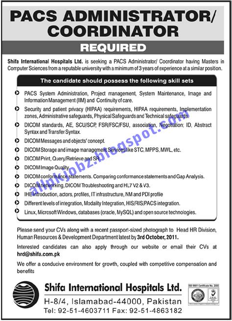 jobs in shifa international hospital jobs in pakistan