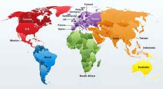 Global World Map by Global Map Countries Pictures To Pin On Pinterest Pinsdaddy