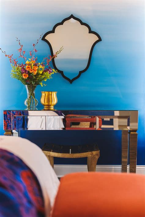 suzann kletzien eclectic bohemian master bedroom with ombre wall treatment suzann kletzien hgtv