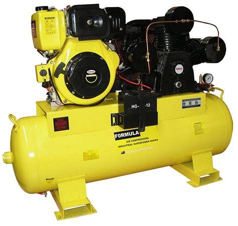 air compressor hp diesel  cfm  litre tank brand