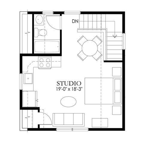 garage studio apartment floor plans apartments half garage single level craftsman garage and