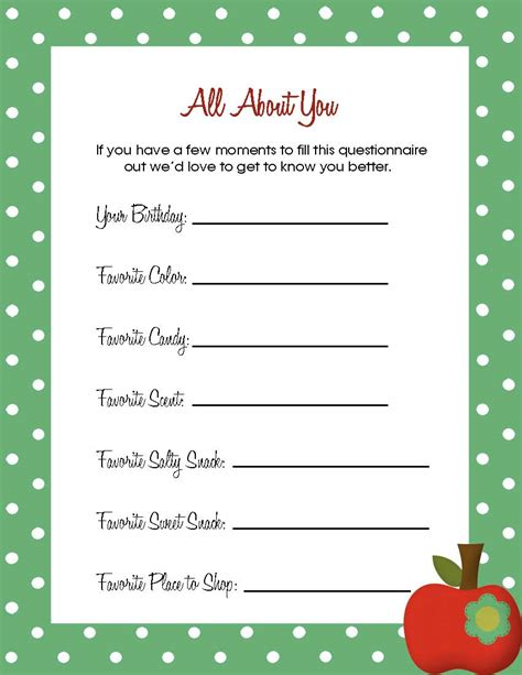 best photos of teacher favorite things template teacher