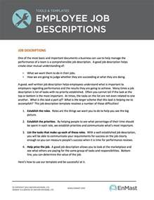 how to create description template employee descriptions tool and template
