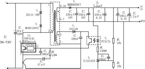 Thx203h 1 top412 414三端dc dc pwm开关电源 电源设计应用 电子发烧友网