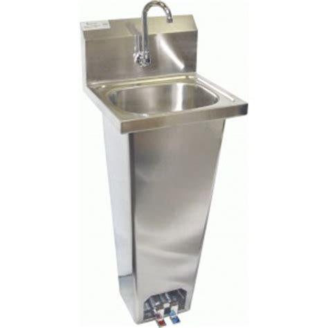quot free quot floor s s hank sink w foot pedal 15 x 15 75 x