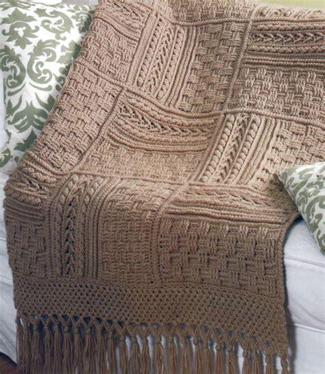 basketweave knit afghan pattern 5 stunning aran afghans basketweave sler crochet