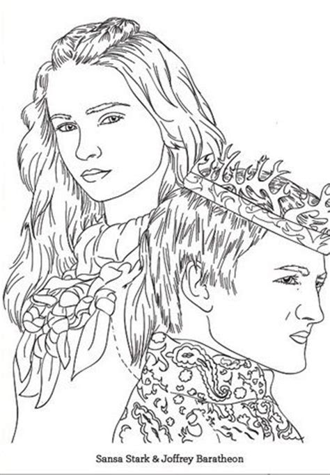 thrones colouring book adults of thrones coloring pages and of on