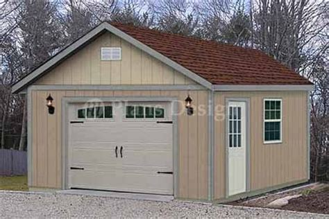 16 x 24 garage plans 16 x 24 car garage or workshop project plan design 51624