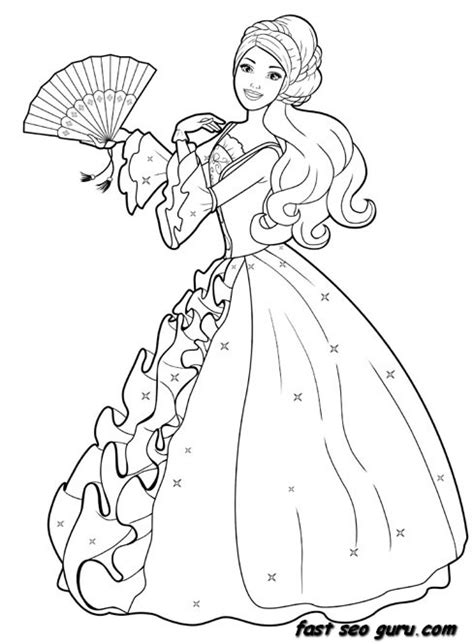 princess gown coloring pages printable princess dress colouring book pages