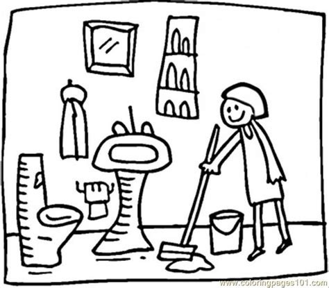 coloring page bathroom bathrooms drawing coloring coloring pages