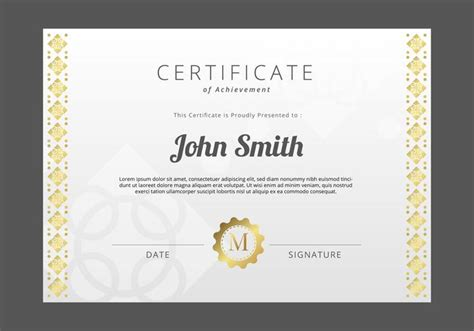 free vector certificate templates free certificate template free vector