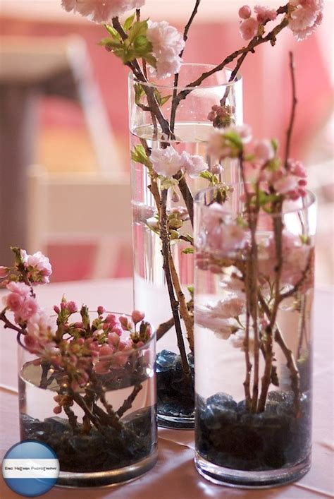 cherry blossom arrangements cherry blossom centerpieces weddings and marriage