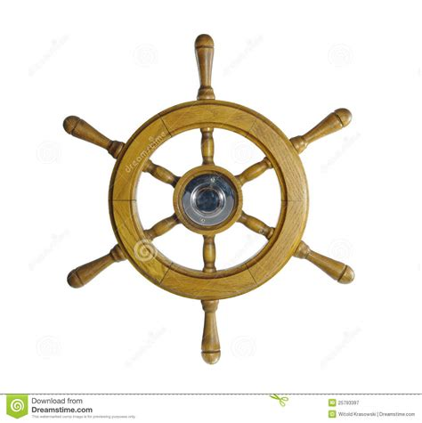 sailing boat steering wheel steering wheel of sailing ship royalty free stock