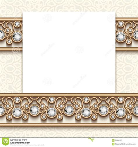 greeting card borders templates vintage jewelry greeting card with borders stock