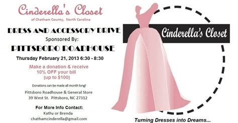 Cinderallas Closet by Cinderella S Closet Reception Drive At The Pittsboro