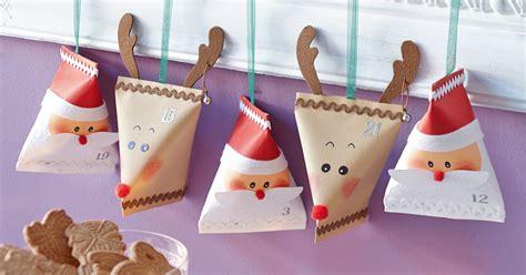 Weihnachtsbasteln Mit Kindergartenkindern 5897 by Adventskalender P 228 Ckchen Basteln Weihnachtsmann Elch