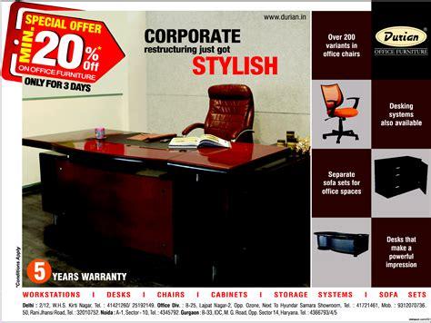 durian office furniture durian 0 interest on emi mumbai new delhi bangalore saleraja