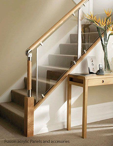 glass banister rails glass and wood stair railing ski house pinterest