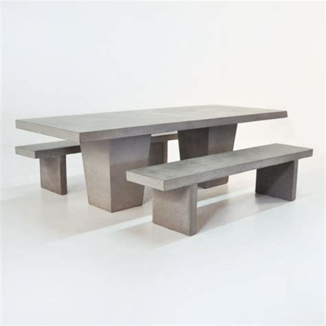 concrete bench outdoor furniture outdoor dining set tapered concrete table and 2 benches