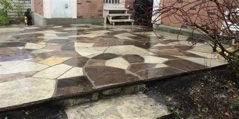 Laid Flagstone Patio by Rebuilding An Flagstone Patio With New Flagstone