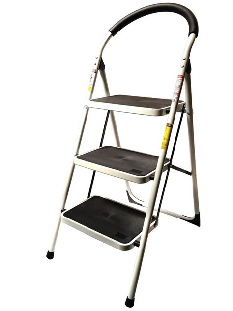 Industrial Folding Step Stool by 3 Step Ladder Lightweight Folding Stool Heavy Duty