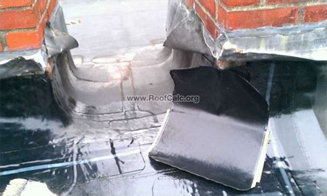 rubber roof chimney flashing repair installing