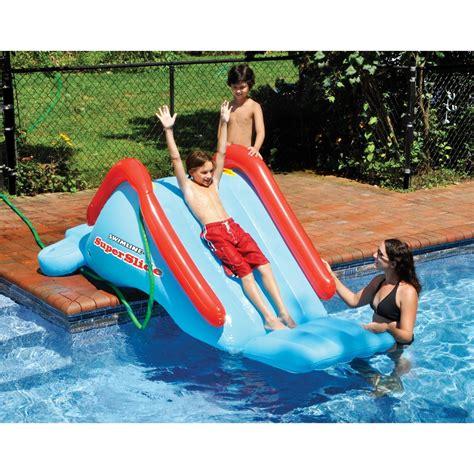 swimline superslide inflatable  ground pool water