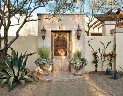 spanish style courtyards spanish colonial entry courtyard features a cantera