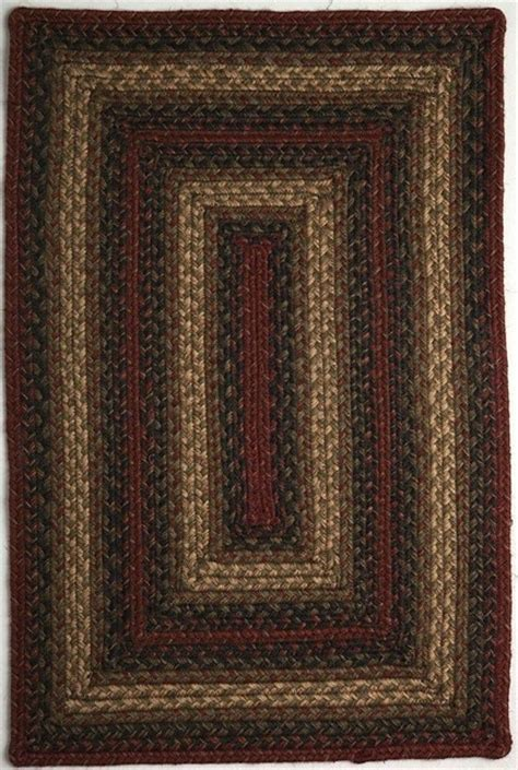 Farmhouse Area Rugs Braided Vancouver Oval 8 0 Quot X10 Oval Rust Black Area Rug Farmhouse Area Rugs By Rugpal