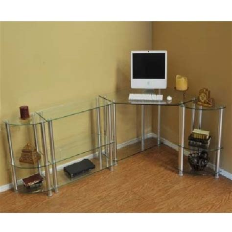 Corner Computer Desk With Extension by Rta Glass Corner Computer Desk With 1 Extension Table And