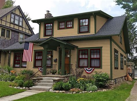 craftsman style house colors exterior paint colors craftsman style homes home design