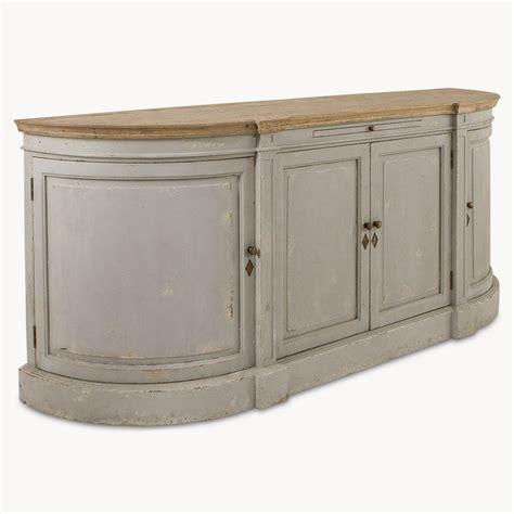 Distressed Light Grey Large Sideboard Furniture   La