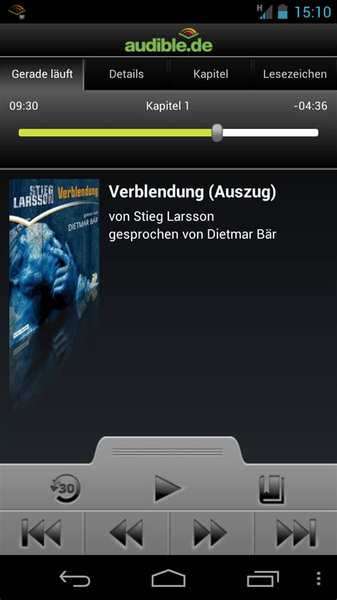 android audio books audible for android a la gloire des audio books tests android androidpit