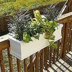 deck rail planters on deck railing planters