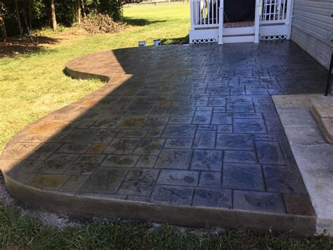 Concrete Patio Forms by Free Form Ashlar Slate Patio Without Border Blackwater