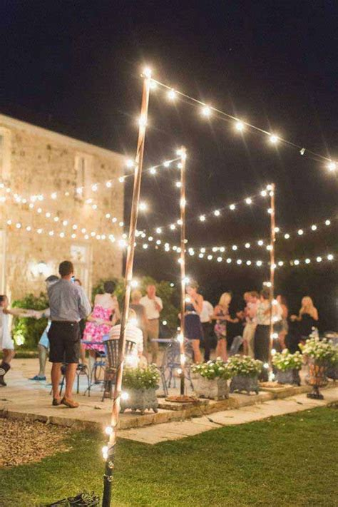 Lighting For Outdoor Weddings 24 Jaw Dropping Beautiful Yard And Patio String Lighting Ideas For A Small Heaven Event
