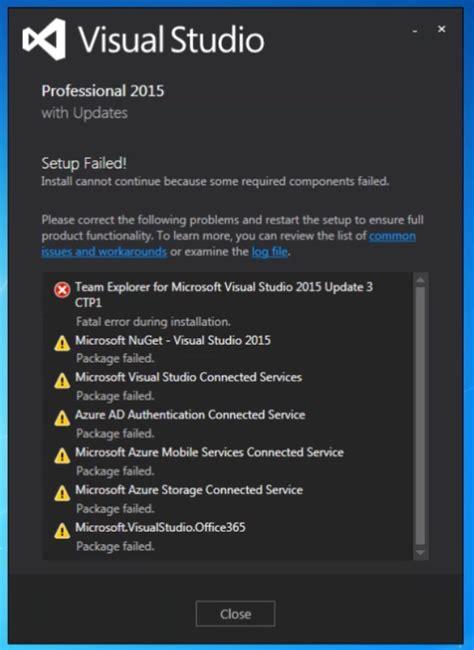 installing visual studio 2015 msdnmicrosoftcom team explorer for microsoft visual studio 2015 update 3