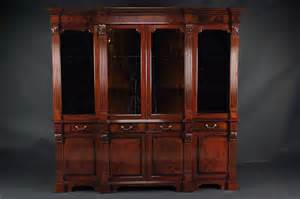 mahogany china cabinet high end antique reproduction breakfront