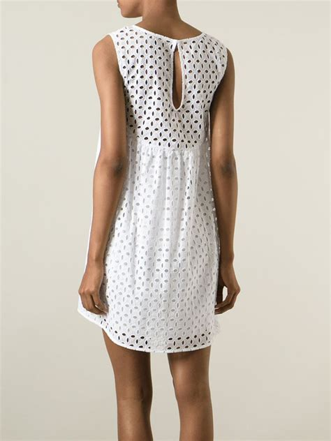 R P S Dress p a r o s h broderie anglaise shift dress in white lyst