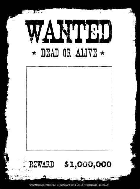 blank templates for posters http timvandevall com blank wanted poster template