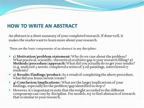 how do you write an abstract for a paper welcome to unit 9 announcements thank you project
