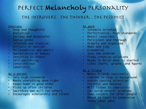 Choleric Personality Essay by Melancholy Brief Look At Opposing Blends At The End K Melancholic Sanguine Temperament And
